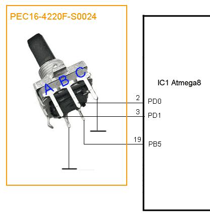 USB - подключение энкодера