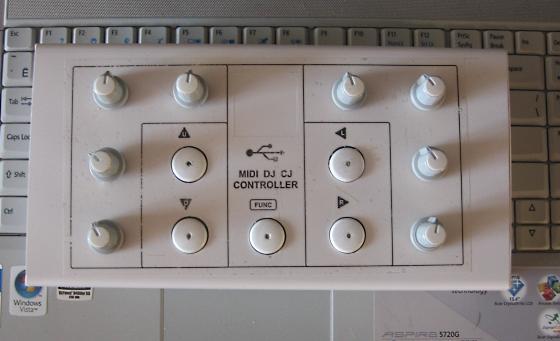 0. Скрэтчи это уже не модно.  А так миди контроллер вещь хорошая, вот мой вариант со схемой, описанием и прошивкой.